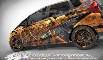 Honda Jazz rusty decal full