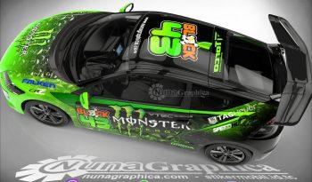 Honda CRZ monster energy full